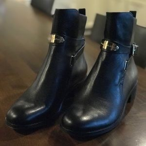 Michael Kors Black Leather Arley Boot Size 9